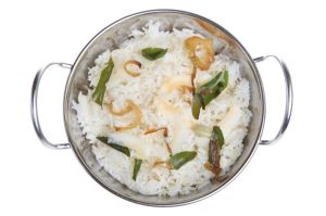 Arroz jasmine con leche de coco