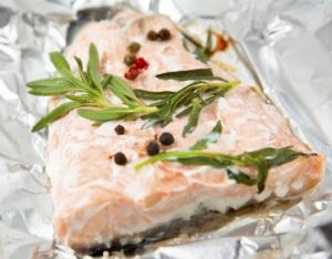 salmon-papillote