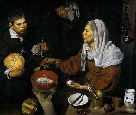 Vieja friendo un huevo. Velázquez